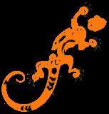 Gecko gezeichnet